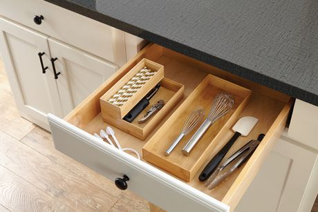 Buy Mainstays Bamboo Stackable Drawer Organizer Set From Walmart