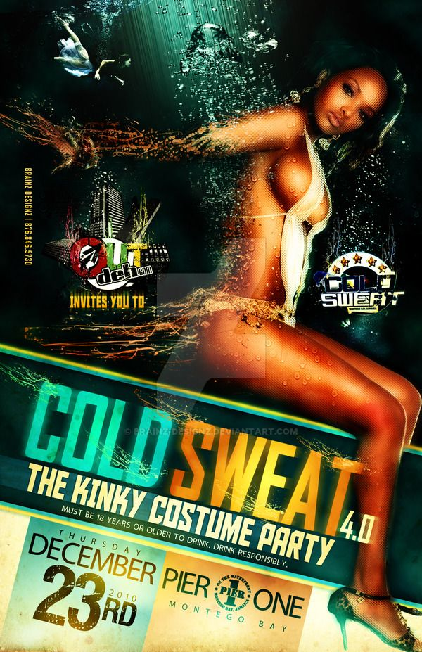 Cold Sweat - Party Flyer Front by Brainz-Designz on DeviantArt - party flyer