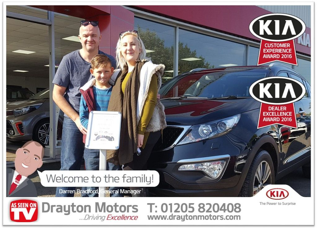 Pictured Are Charlotte John And Keenan Collecting Their Kia Sportage From Martin Charlotte Is A Returning Customer So We Would Like To Say A Massive Thank You Drayton Kia Welcome To