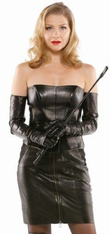 Mistress t leather gloves All