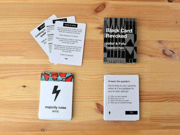 Jollof Amp Fufu Black Card Cards Games