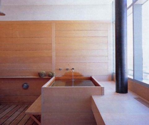 Love This Wet Room In Hinoki Wood Beautiful Wooden Square Bath Japanese Bathroom Wood Tub Wooden Bath