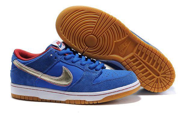 hot sale online 289ff e9401 £85.00 Nike Dunk SB Low Premium Navy Blue Metallic Gold