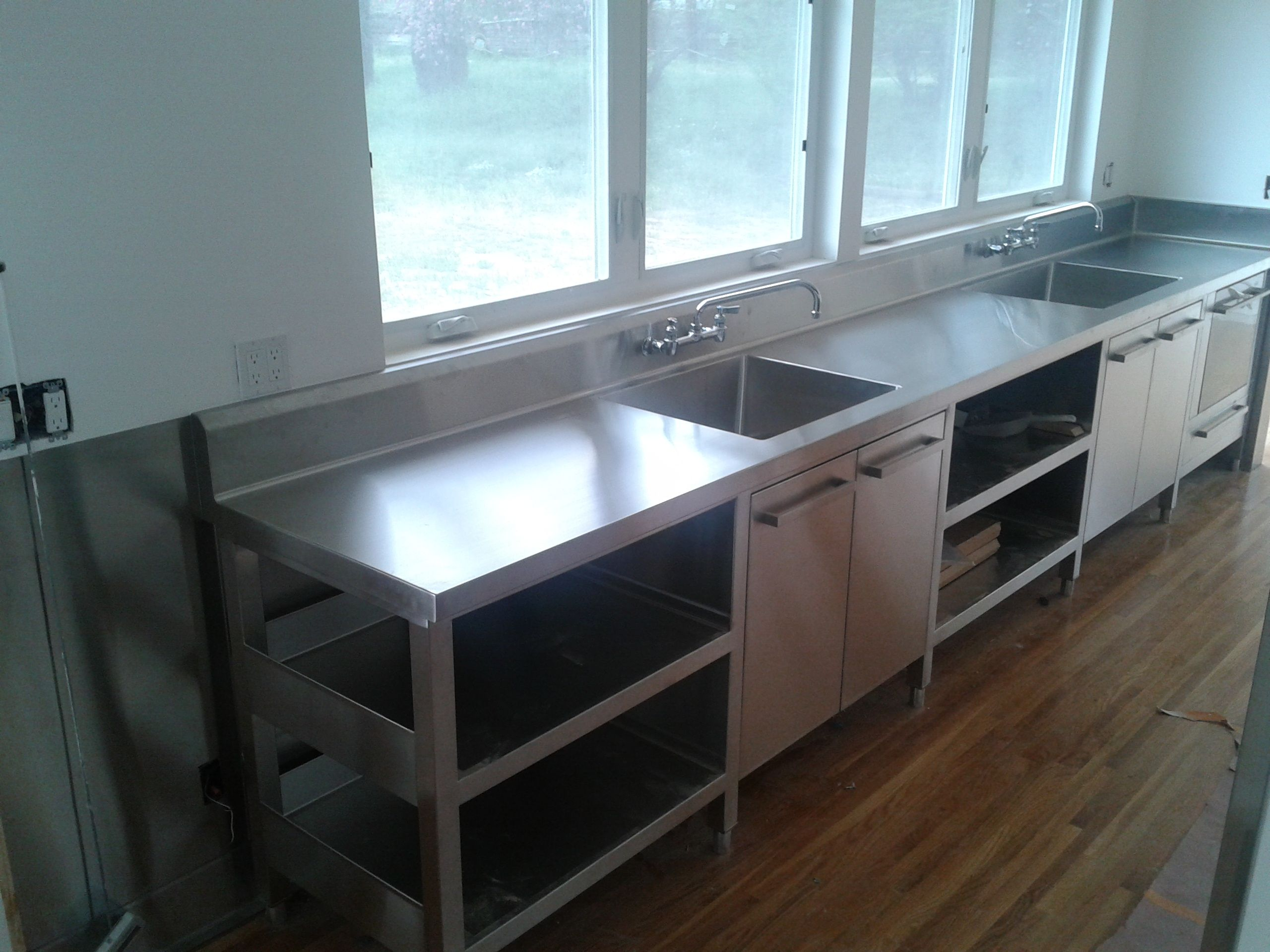 shelving stainless steel fitted units mercial kitchen large