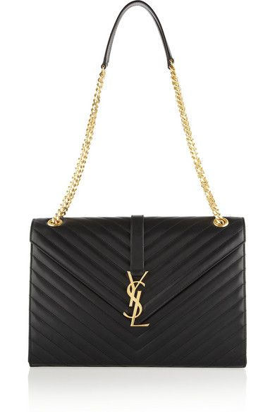 a0f84e5357 Saint Laurent 'Cassandre' Large Quilted Leather Shoulder Bag With Brand's  Iconic Logo.
