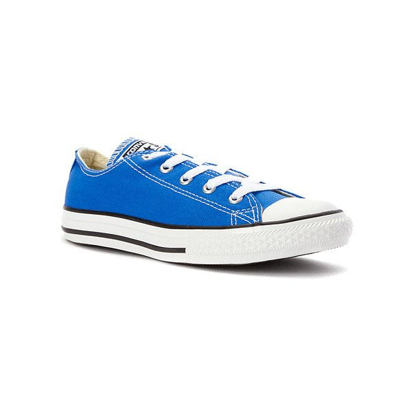 Converse Chuck Taylor Low Top Sneaker Preschool ($26) ❤ liked on Polyvore  featuring shoes. Oxford SneakersBlue ...