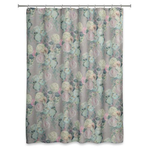Essential Home 70 W X 72 L Marche Aux Fleurs Shower Curtain