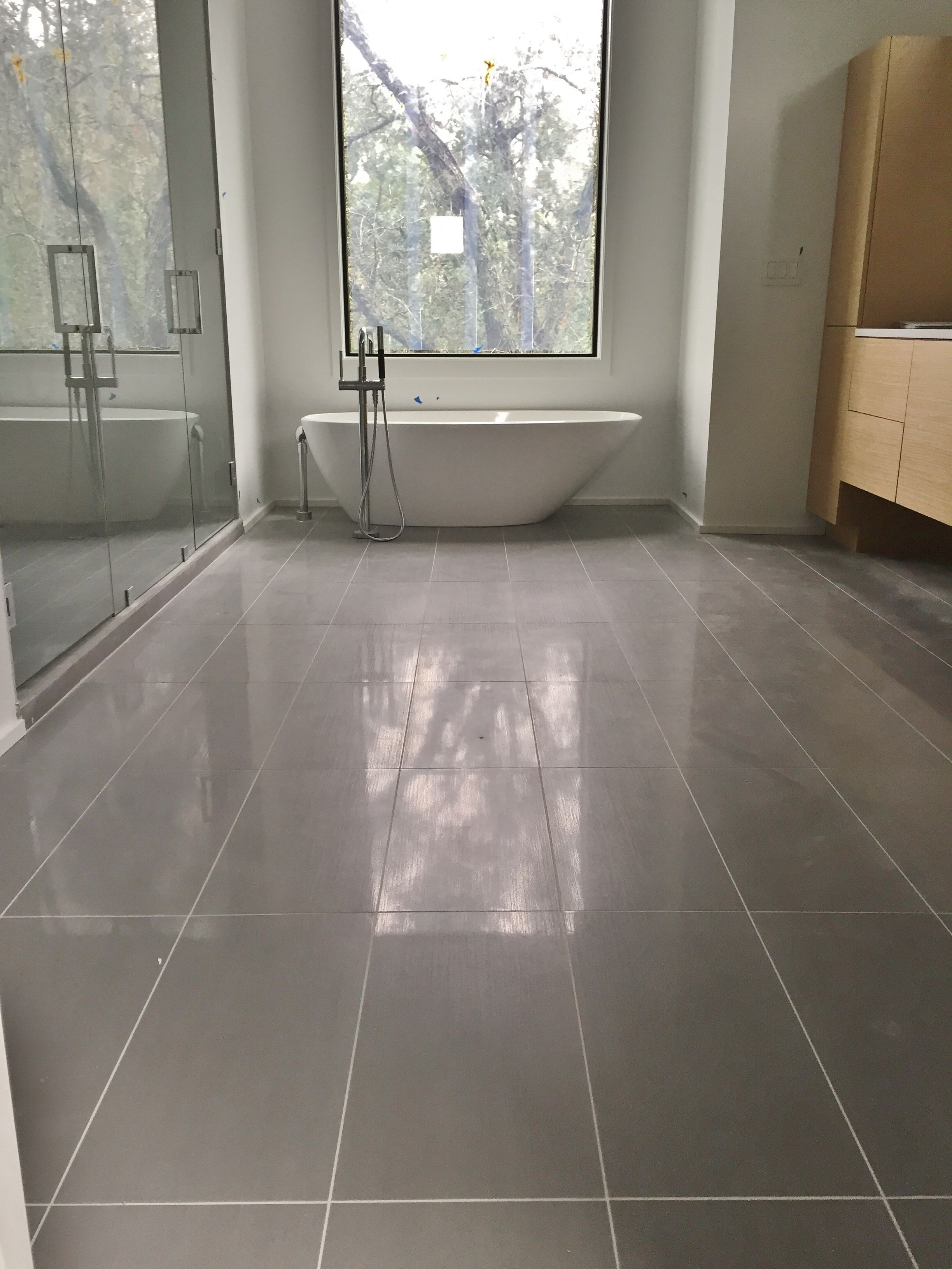 12x24 porcelain tile on master bathroom floor tile jobs for Master bathroom flooring