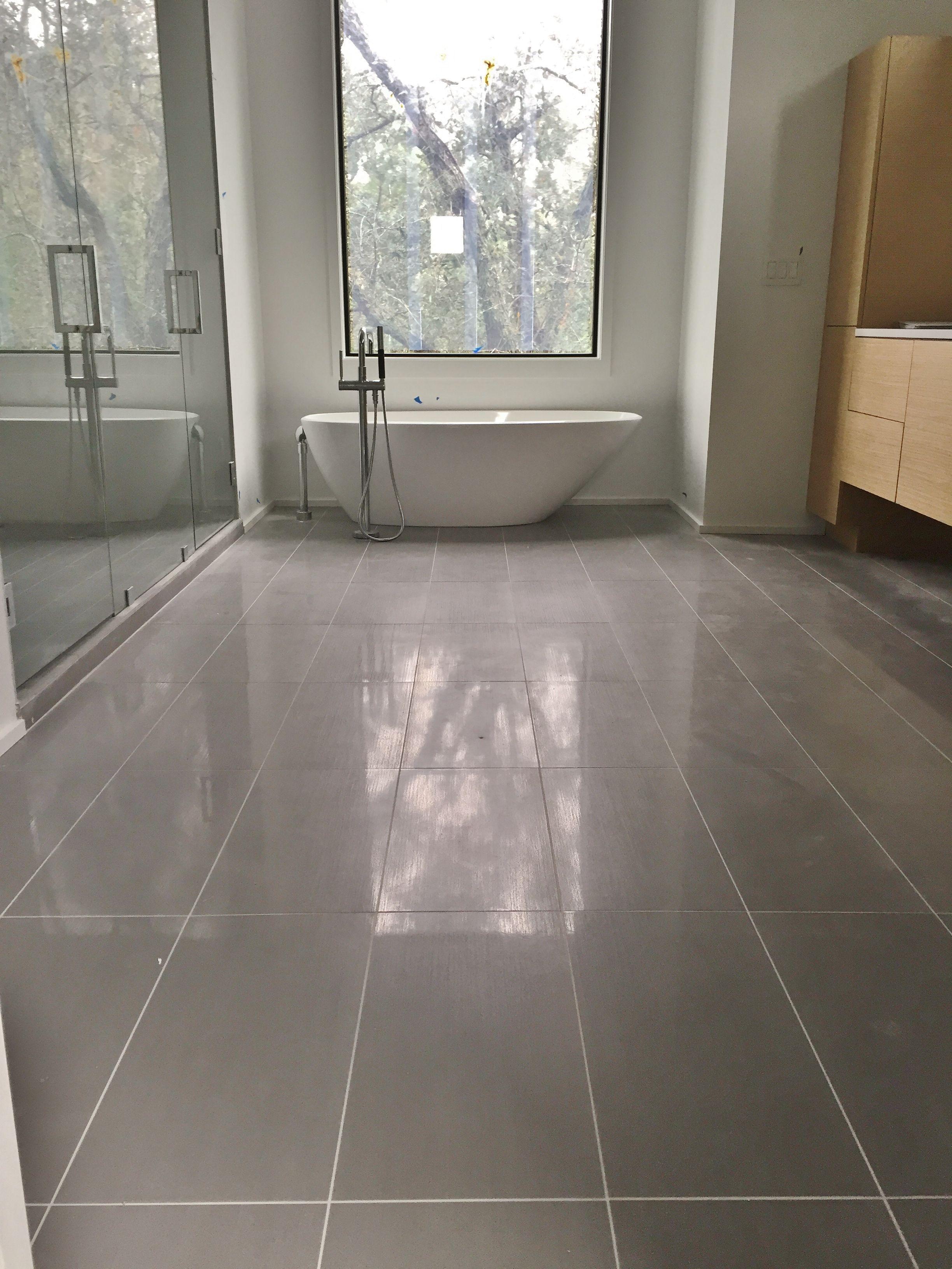 12x24 Porcelain Tile On Master Bathroom Floor Floor Design