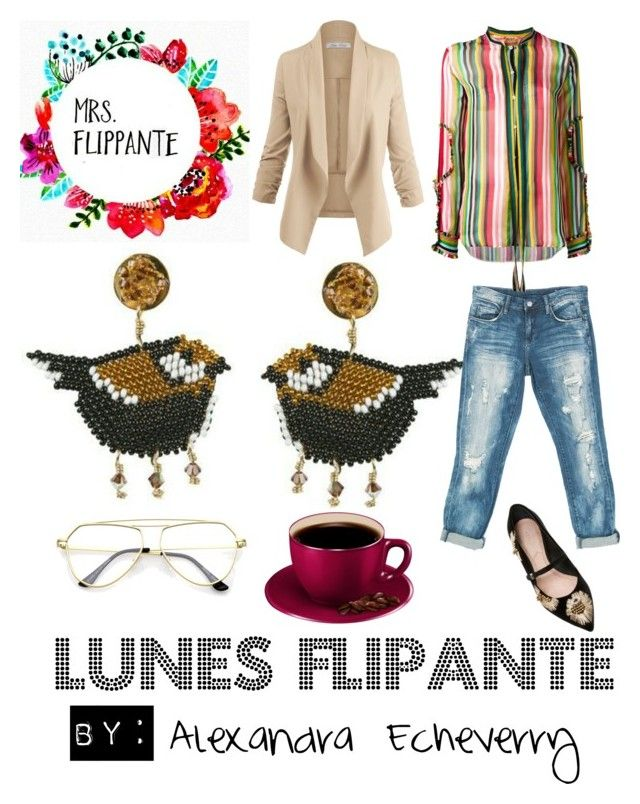 """""""Lunes Flipante"""" by alexandrafs on Polyvore featuring Sans Souci, N°21 and AERIN"""