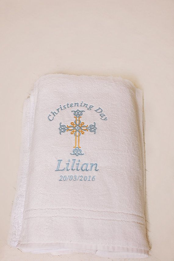 Towel baptism towel personalized christening towel for baby etsy towel baptism towel personalized christening towel for baby negle Choice Image