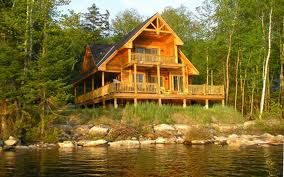Log cabin on a lake in the middle of nowhere, that's all I need