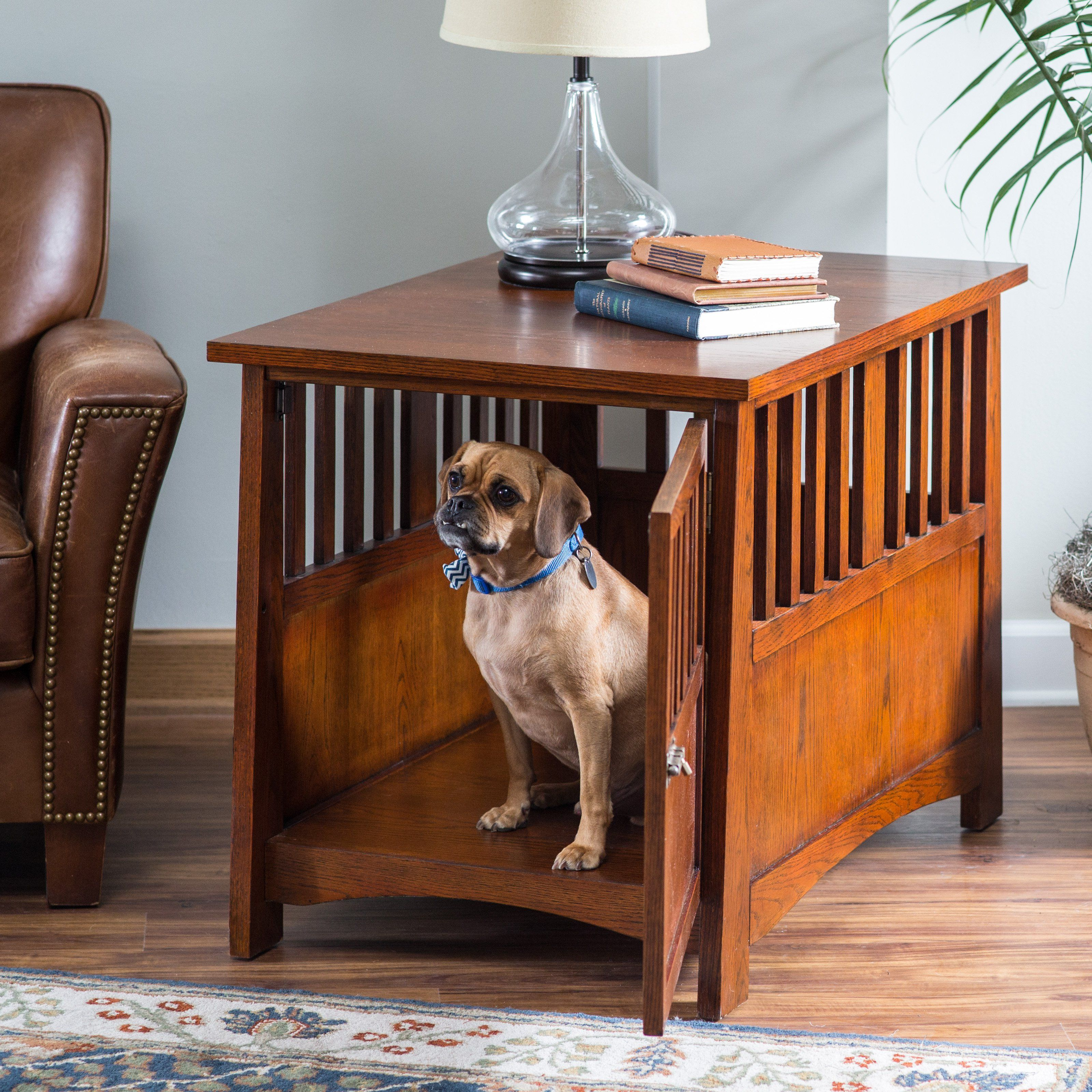 Boomer U0026 George Everett Mission Pet Crate End Table | From Hayneedle.com