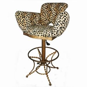 Leopard Print Bar Stool In 2020 Big Comfy Chair Teal Accent