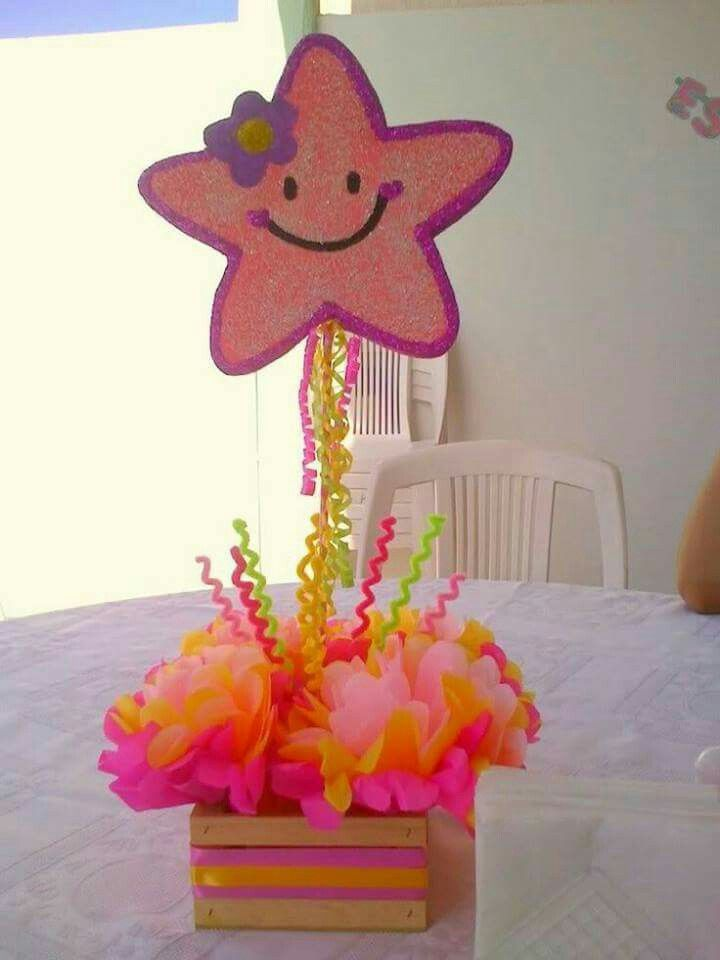 Mesas De Baby Shower Sencillas : mesas, shower, sencillas, Gatita, Manualidades, Fiesta, Centro, Infantil,, Manualidades,, Centros