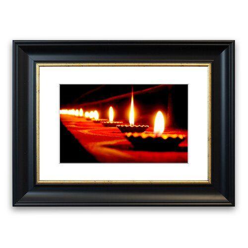 East Urban Home Gerahmter Fotodruck Flammen des Lichts | Wayfair.de