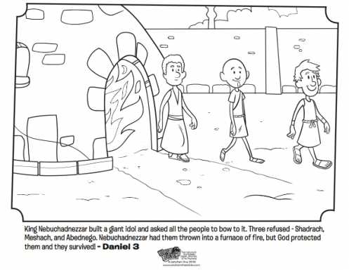 Shadrach meshach and abednego coloring page fiery for Daniel and the fiery furnace coloring page