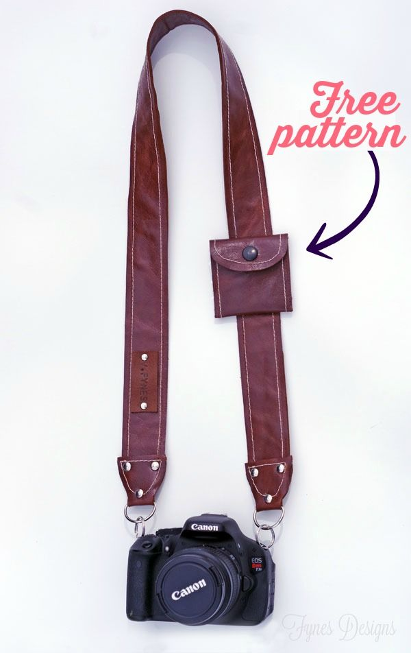 DIY Leather Camera Strap Free Pattern | Sew | Pinterest | Costura ...