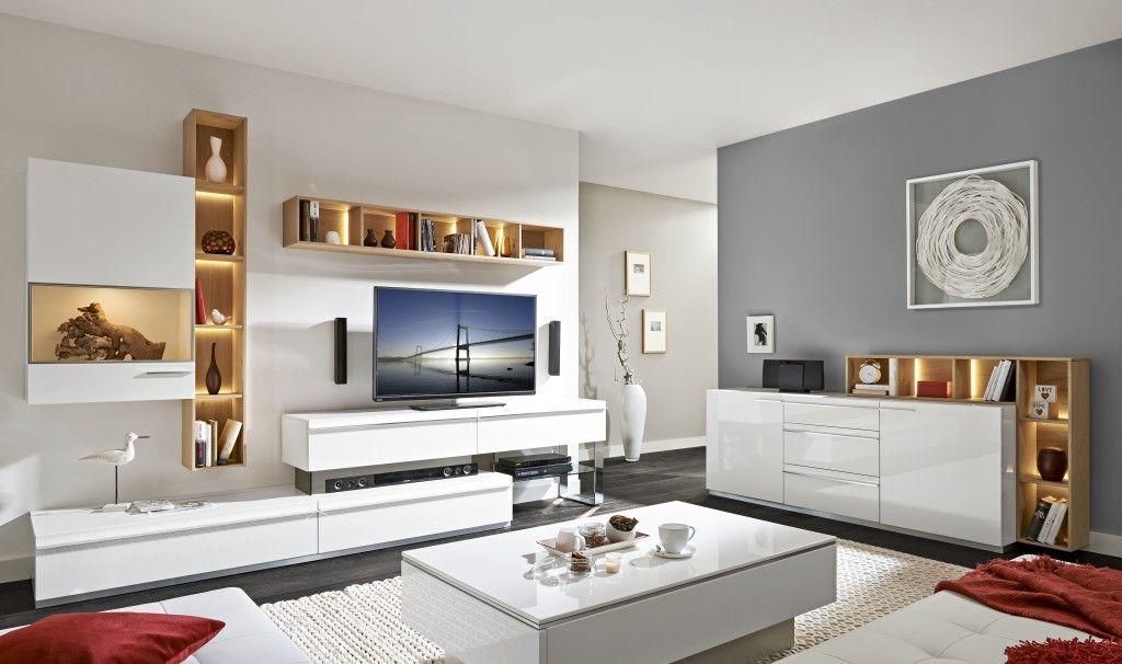 Glänzende Aussichten mit dem Loddenkemper Media-Sideboard in lack - mobel weis wohnzimmer