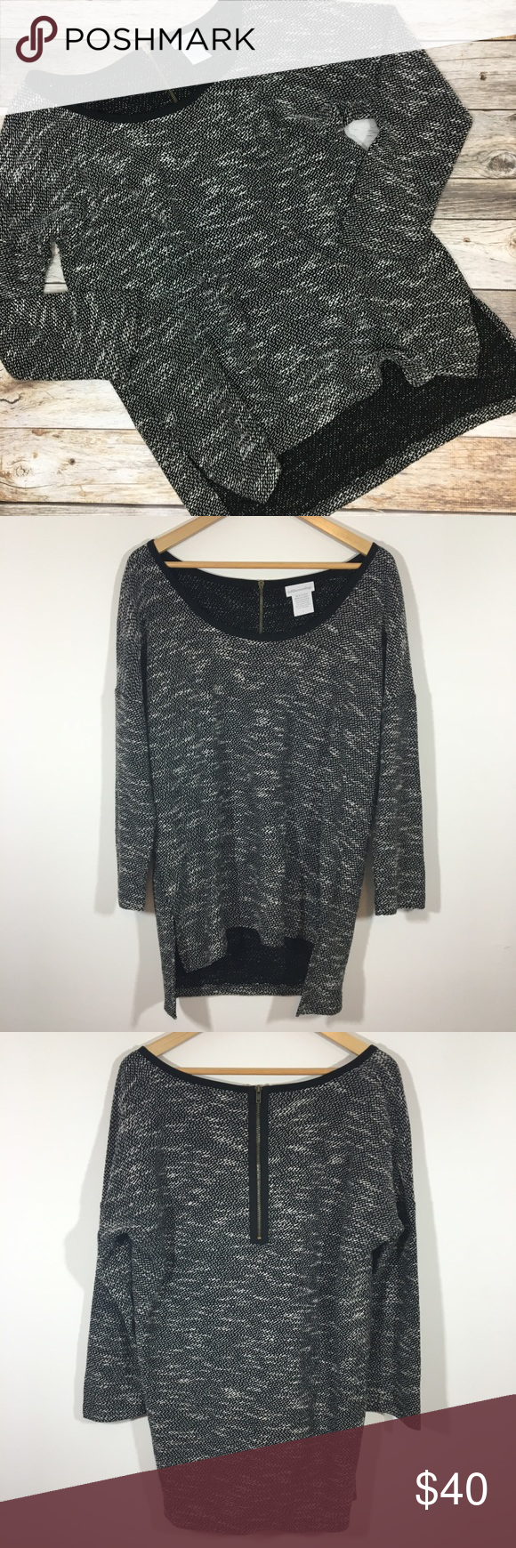 Soft Surroundings Marled Oversized Sweater Size L Soft ...