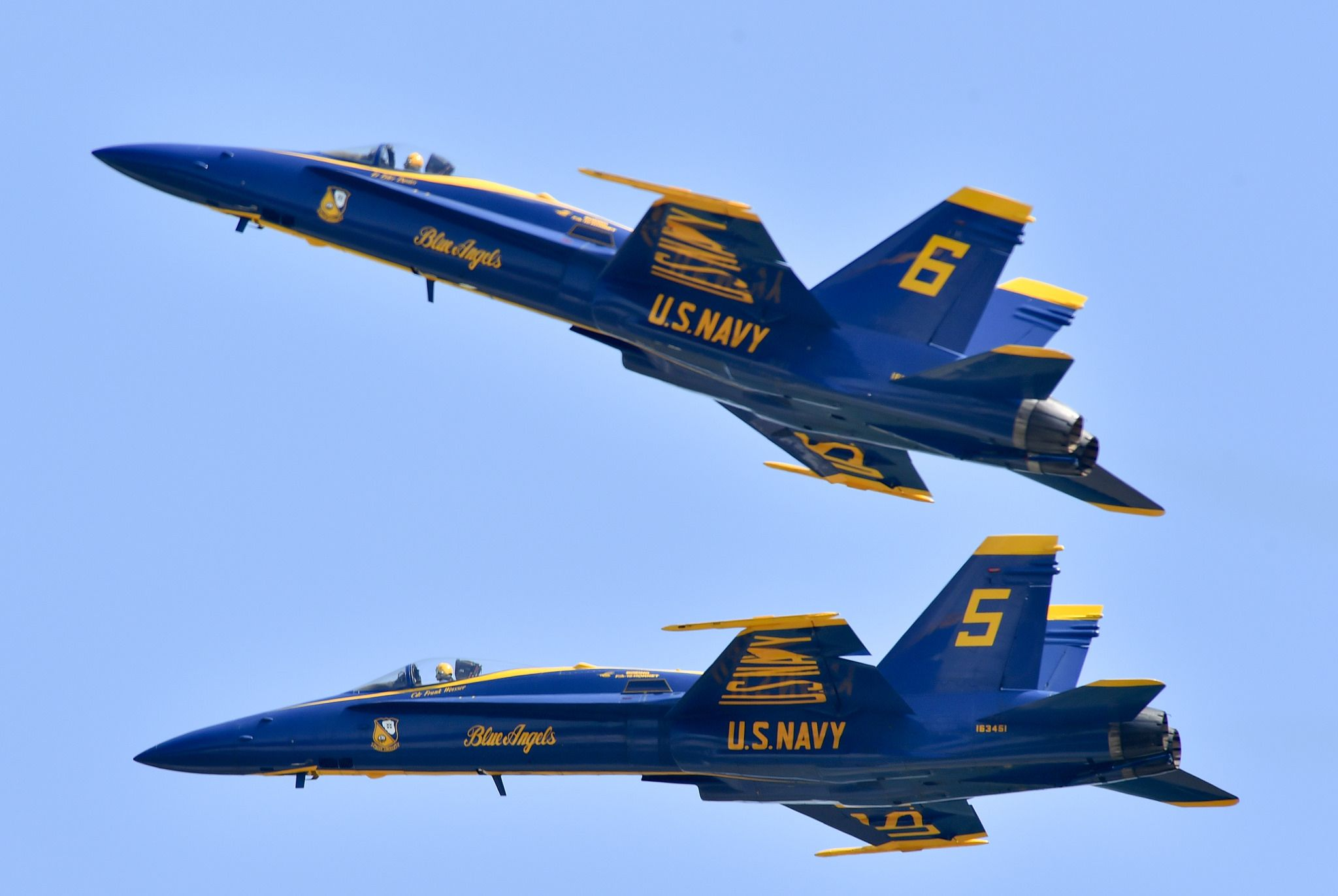 The Blue Angels perform at the Wings Over Wayne Air Show