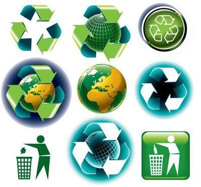 Simbolos del Reciclaje y su significado, ver guia en http://www.consumer.es/web/es/medio_ambiente/urbano/2008/08/04/179032.php   y tambien   http://www.inforeciclaje.com/