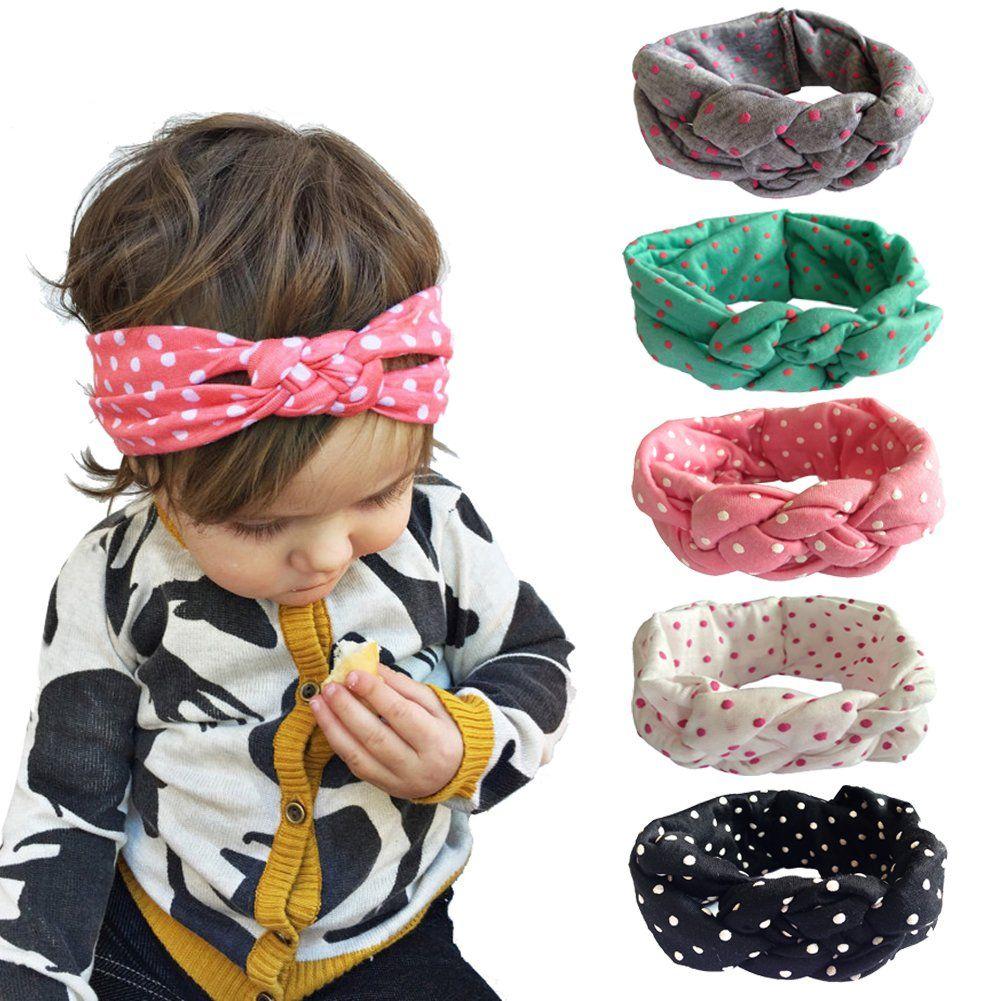 b7941fb29b1f5d Andy's Share Baby Mädchen Neueste Turban Stirnband Kopf Verpackung Haarband