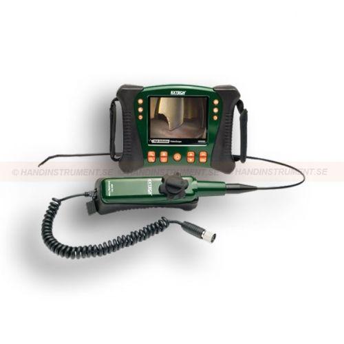 """http://termometer.dk/inspektionskamera-r12842/hd-video-inspektion-kamera-med-guide-handtag-og-kontrollerbar-kamera-spids-diameter-pa-6-mm-og-1-m-53-HDV640-r12851  HD video inspektion kamera med guide håndtag og kontrollerbar kamera spids diameter på 6 mm og 1 m  Inkluderer styr med kabler med 6mm halvstive sonde (1m) med makroobjektiv  Formulere sondespids artikulerarr op til 320 ° betragtningsvinkel-ers  5,7 """"farve LCD TFT med high definition 640 x 480 opløsning  Kompakt..."""