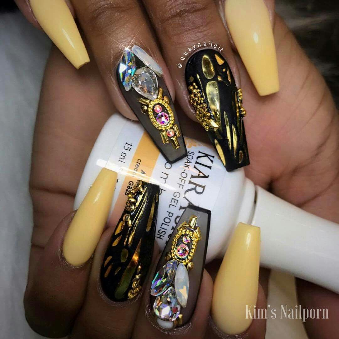 Pin By Niquey On Fab Nails In 2018 Pinterest Nails Yellow Nails