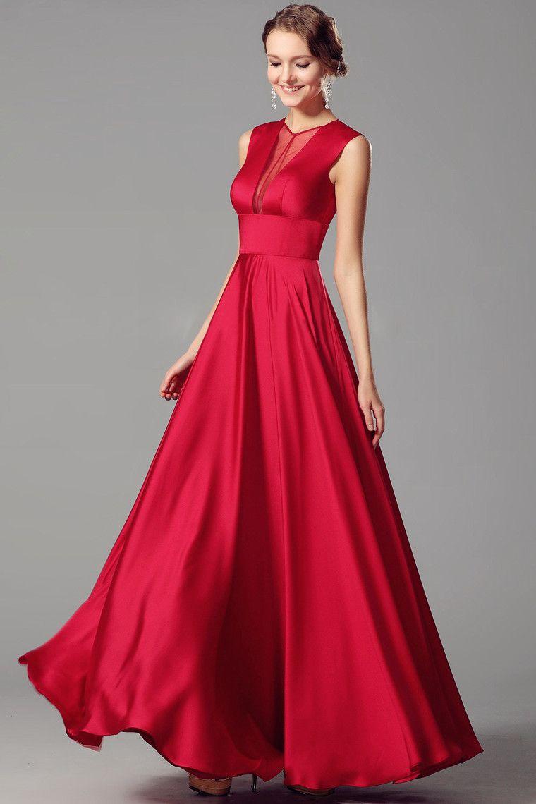 Concise vneck long prom dress formal long dress pinterest
