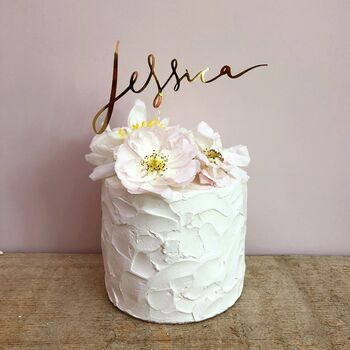 personalised name birthday cake topper by all her glory | notonthehighstreet.com  #smaracreations #memrez #personalizedgifts #gifts #memories