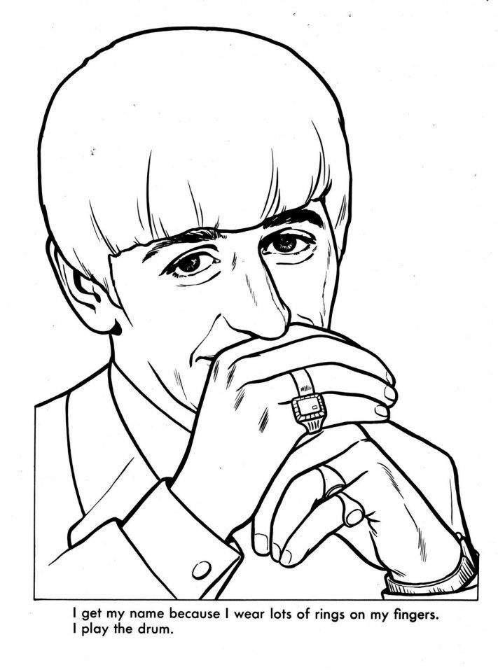 The Beatles Coloring Page 10 | Beatles drawing, The ...