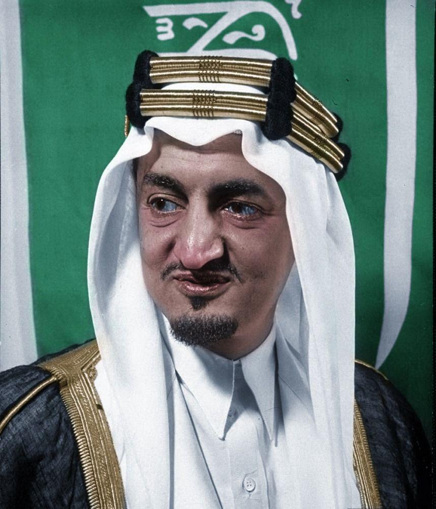 الملك فيصل بن عبدالعزيز Arabian Art Colorized Photos Culture Art