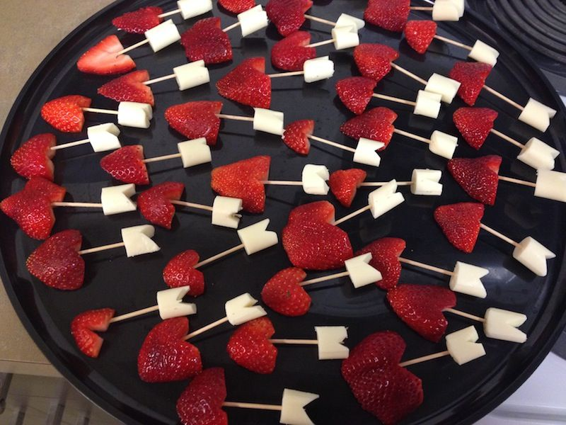 Cupids Arrows Made By Sarah Chelburg RD As Healthy Snack For Class Valentine Party Strawberries Plus Lowfat String Cheese And A Little Handiwork With