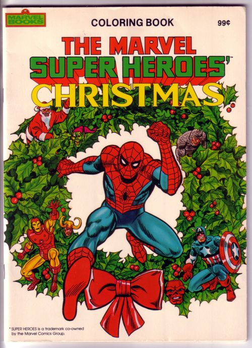 Vintage Coloring Book - The Marvel Super Heroes\' Christmas ...