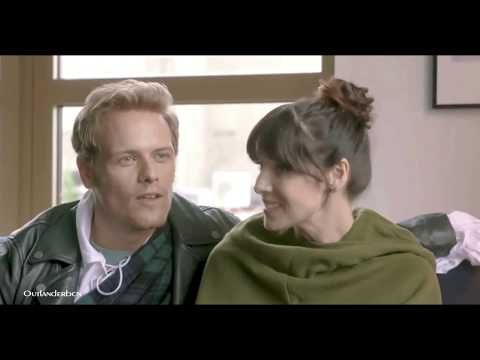 BLOOPERS OUTLANDER Sam Heughan and Caitriona Balfe - YouTube