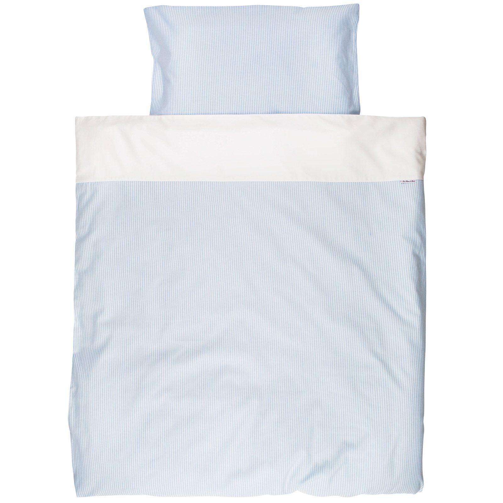 housse de couette taie pour berceau blue stripe 80 x 80 cm - Linge De Lit Pour Berceau Fille Mini