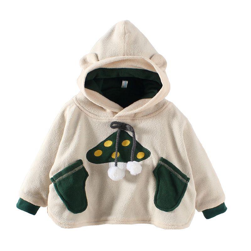 9142331fba9b Click to Buy    Baby Mushroom Costume Fleece Cloak kids animal ...