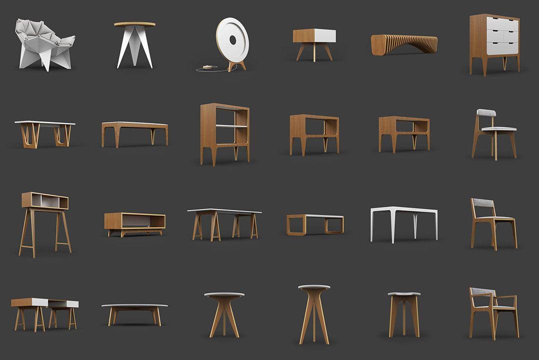 Modelos 3d Gratis Xciv Mobiliario Bocetos De Diseno De Interiores Visualizacion De Arquitectura Modelos 3d Gratis