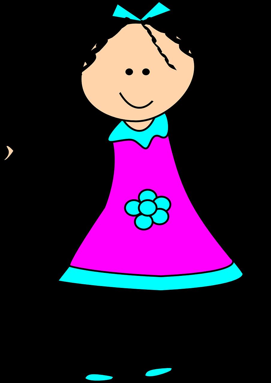 Image gratuite sur Pixabay – Jeune Fille, Enfant, Heureux, Robe