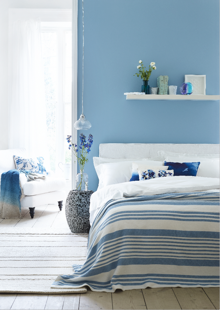 farrow and ball lulworth blue schlafzimmer bedroom pinterest wandfarbe. Black Bedroom Furniture Sets. Home Design Ideas