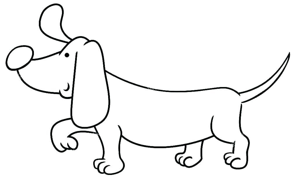 Dachshund Puppy Coloring Page Nice Dog Drawing For Kids More