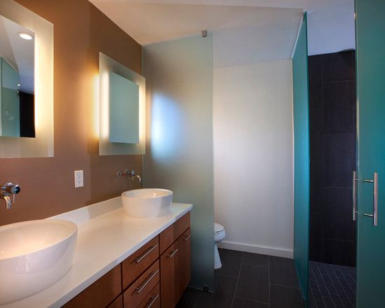 Toilet Privacy Gl Wall Ideas For Home Modern Bathroom