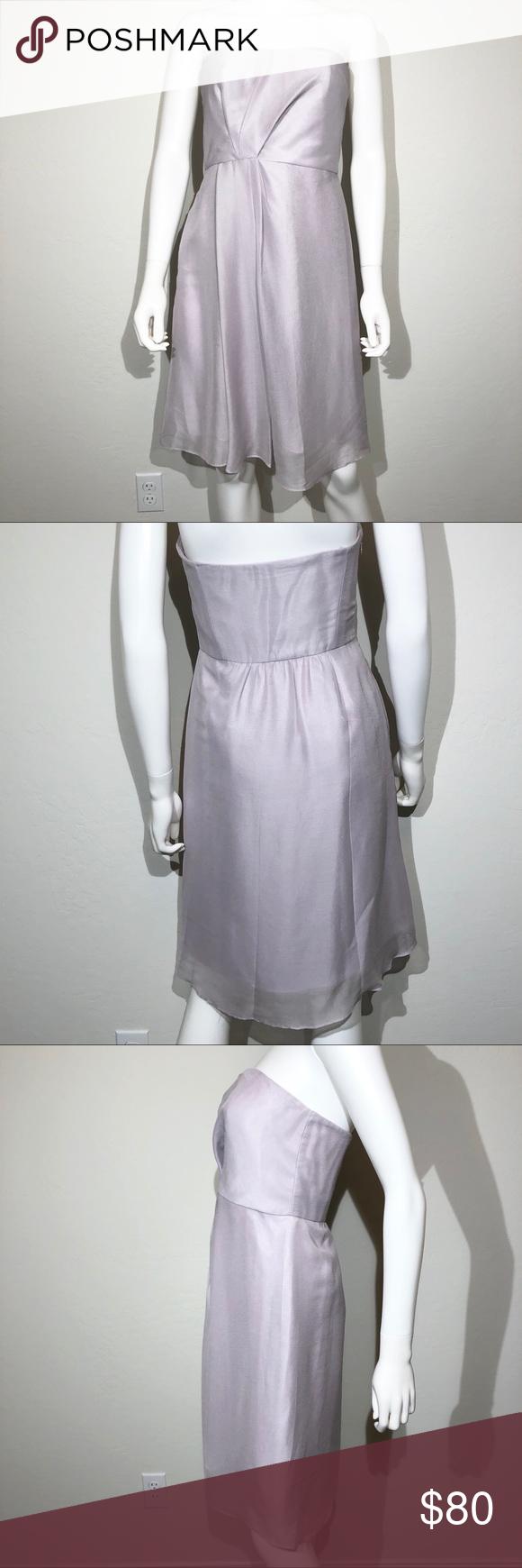 J Crew Prom Dress Size 4 Purple Strapless Silk NWT | Pinterest
