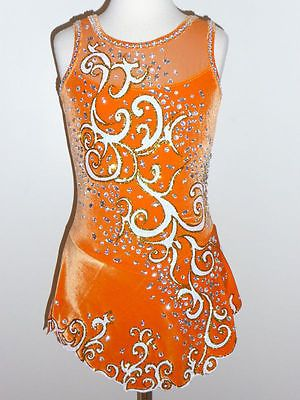 CUSTOM MADE TO FIT STUNNING AND BEAUTIFUL ICE SKATING DRESS