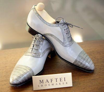 Maftei pale grey oxfords