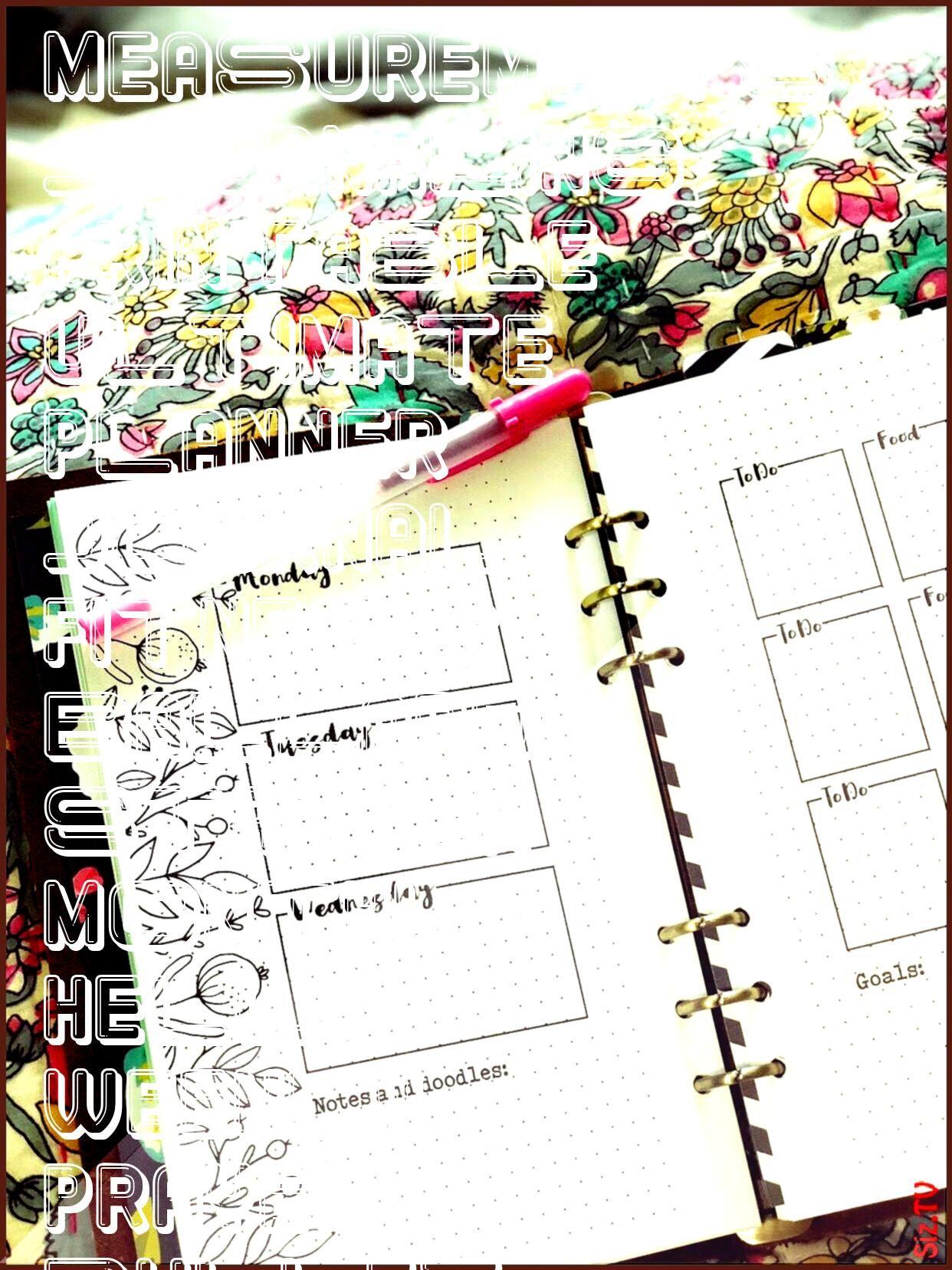 #measurements #journaling #printable #ultimate #planner #journal #fitness #ballard #starter #monthly...