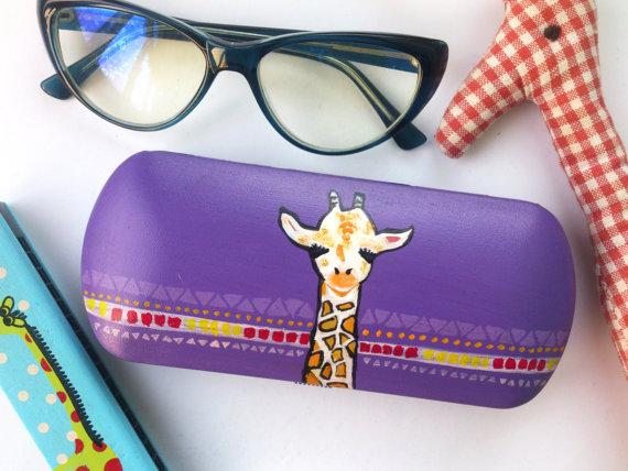 590bde514 Giraffe - Glasses case - Giraffe gift - Giraffe art - cute Giraffe -  Giraffe accessories - gift for girlfriend - gift for friend