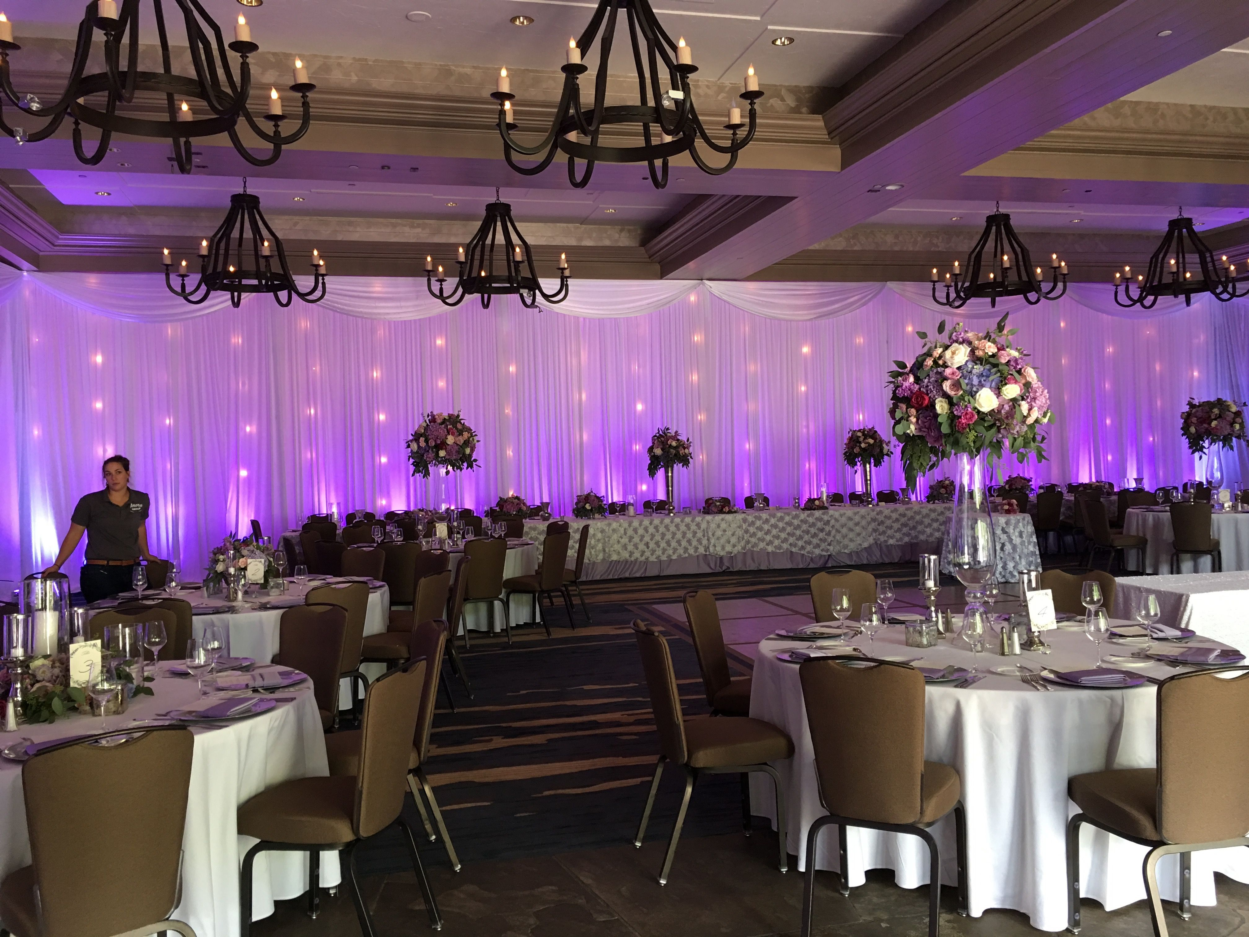 1920's themed wedding decorations november 2018 Wedding draping valance up lights and market lighting From our