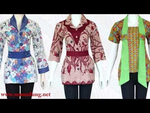 Model Baju Batik Wanita Modern Desain Terbaru 2015 Fashion